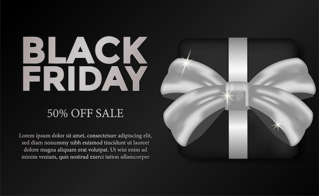 Oferta de venda preto modelo de sexta-feira