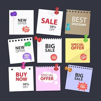 Oferta especial balão de fala banner de oferta especial para promoção de negócios e publicidade