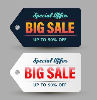 Oferta especial big sale banner dark