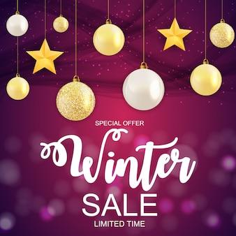 Oferta especial de banner de venda de natal