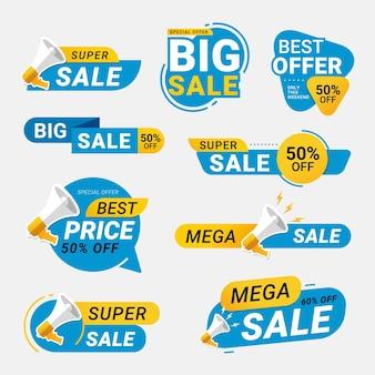 Oferta especial de coleções de etiquetas de vendas