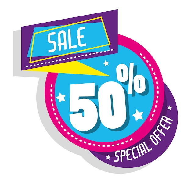 Oferta especial de compras pôster colorido
