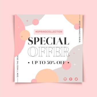 Oferta especial de design de folheto quadrado