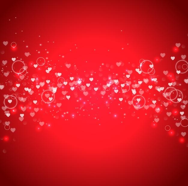 Oferta especial de dia dos namorados no fundo vermelho glitter Vetor Premium