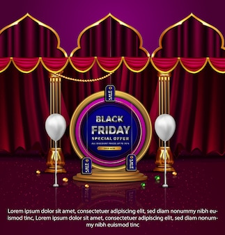 Oferta especial de promoção de luxo na sexta-feira negra