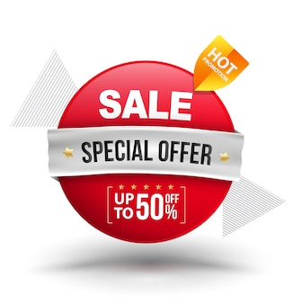 Oferta especial de venda com desconto de até 50%
