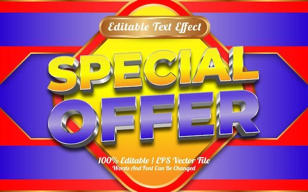 Oferta especial de venda de compras online estilo de modelo de efeito de texto editável 3d