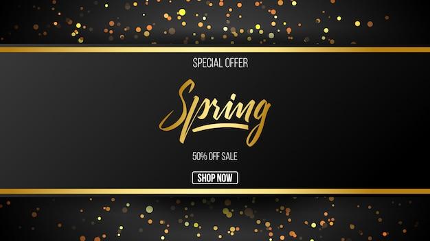 Oferta especial de venda de primavera de fundo