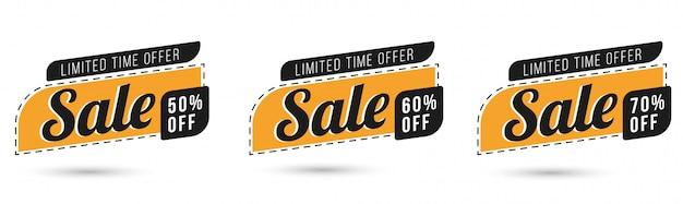 Oferta especial de venda e design de etiquetas de preços vetor premium