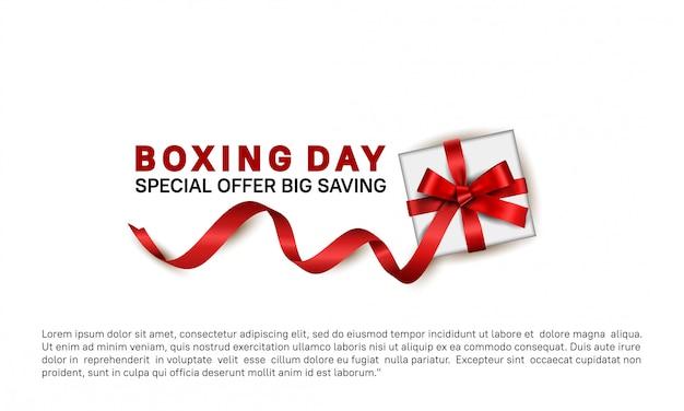 Oferta especial do dia de boxe para o modelo de banner de venda