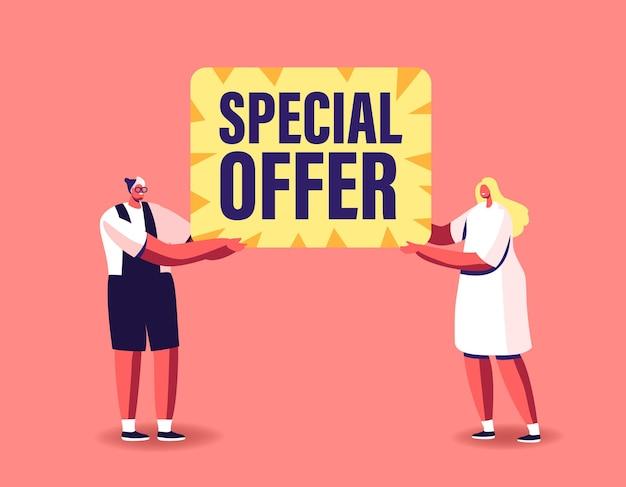 Oferta especial, ilustração de venda