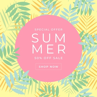 Oferta especial modelo de banner de venda de verão