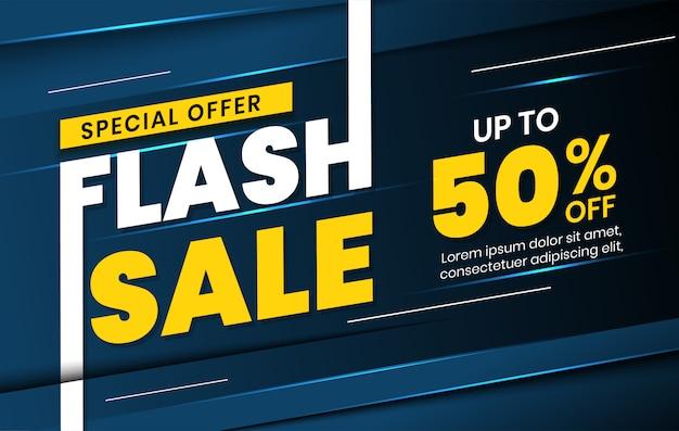 Oferta especial modelo de banner de venda flash para promoção