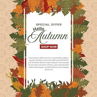 Oferta especial outono modelo de design de sinal de venda