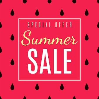 Oferta especial para o anúncio plano de vendas de verão.