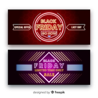 Oferta especial sexta-feira negra banners