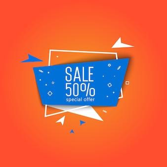 Oferta especial super venda banner vector ilustração.
