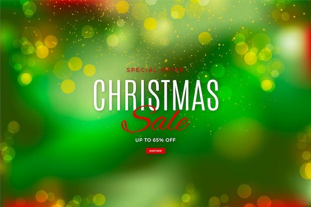 Oferta especial turva venda de natal