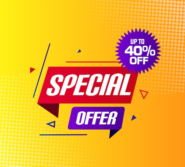 Oferta especial venda banner design