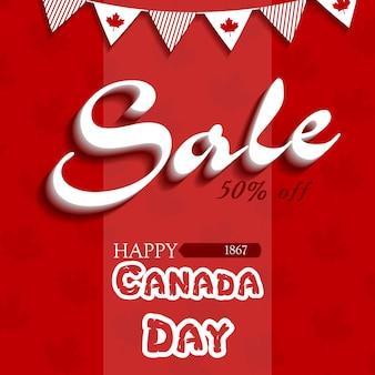 Oferta. feliz dia do canadá. ilustração vetorial