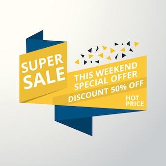 Oferta limitada mega venda banner venda poster grandes ofertas de oferta especial desconto 50 off ilustração vetorial