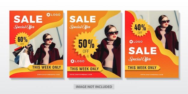 Oferta venda conjunto banner flyer