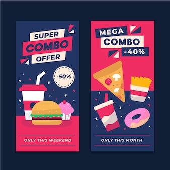 Ofertas combinadas - banners com desconto