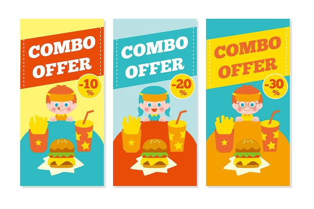 Ofertas combinadas - coleção de banners