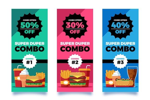 Ofertas combinadas - conceito de banners