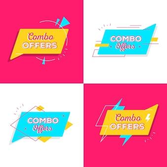 Ofertas combinadas - conceito de rótulos