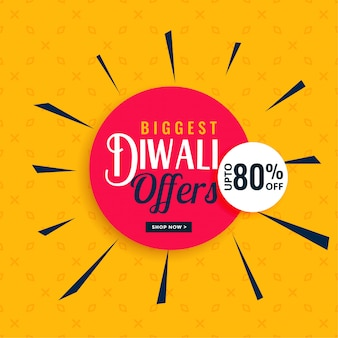 Ofertas de diwali elegante e design de banner de venda