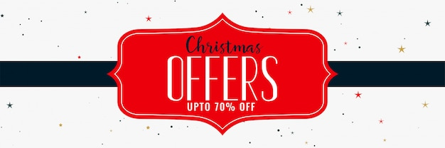 Ofertas de natal e design de banner de venda