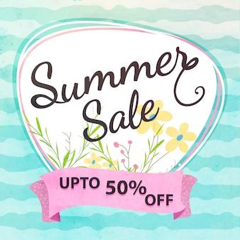 Ofertas de verão até 50% de desconto nas ofertas.