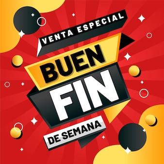 Ofertas especiais anuais de vendas mexicanas pontos pretos e dourados