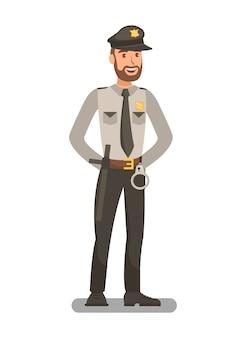 Oficial de polícia em uniforme