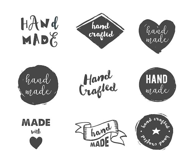 Oficina de artesanato feito à mão com ícones de amor