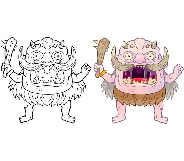 Ogro de desenho animado