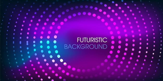 Oi tech futurista brilhante partícula fundo
