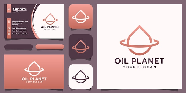 Oil planet logo designs template