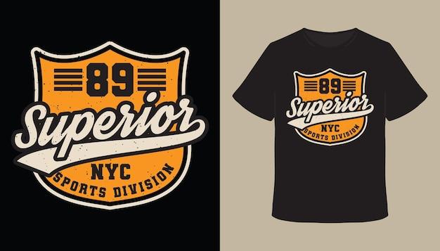 Oitenta e nove design de t-shirt com tipografia superior