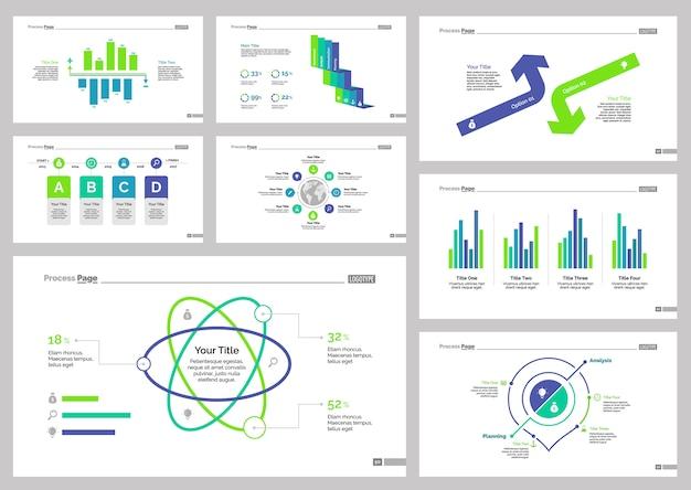 Oito conjuntos de modelos de slides logísticos