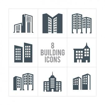 Oito ícones do edifício