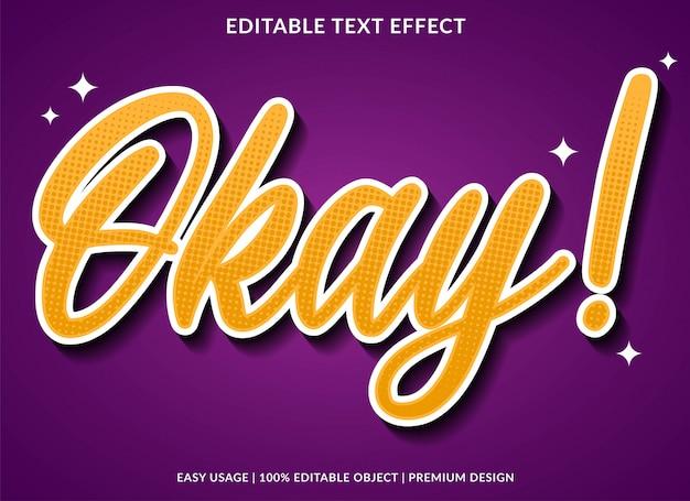 Ok efeito de texto