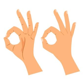 Ok, mão, sinal