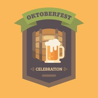 Oktoberfest cerveja festival plana ilustração distintivo