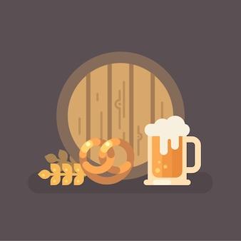 Oktoberfest cerveja festival plana ilustração
