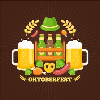 Oktoberfest com pintas e chapéu