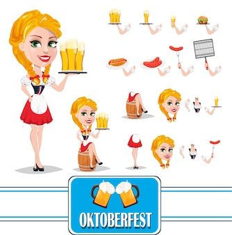 Oktoberfest, conjunto de criação de personagem de menina ruiva