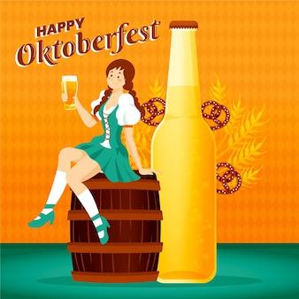 Oktoberfest de estilo desenhado de mão