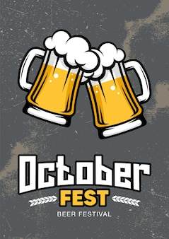 Oktoberfest. dia internacional da cerveja. poster retro, folheto, banner.